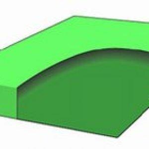 Halvdempet vannseng madrass 183x213-0
